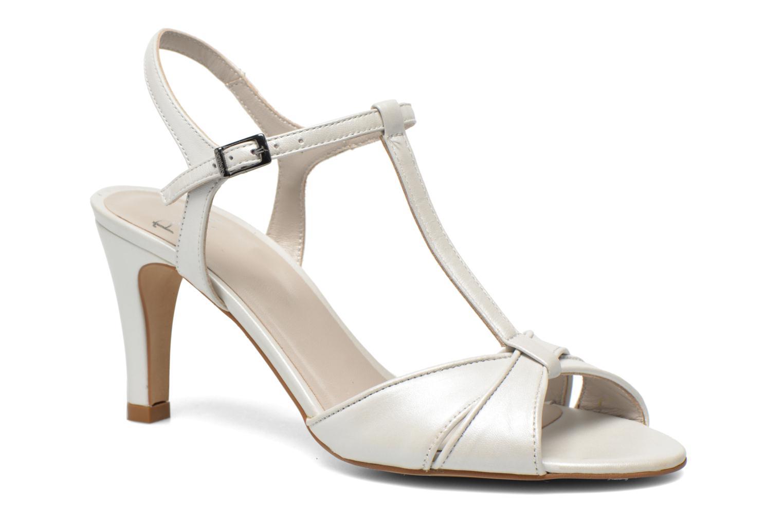 Sandales et nu-pieds Perlato Parvine Blanc vue détail/paire