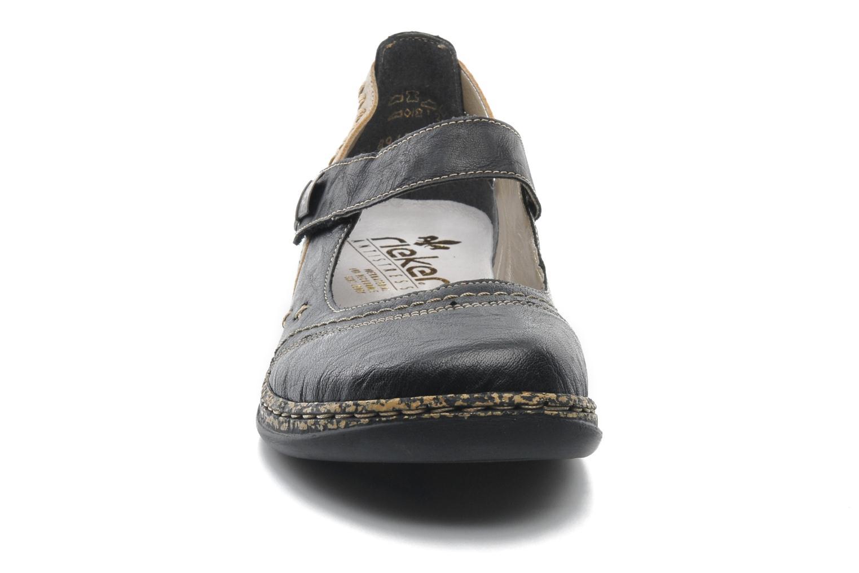Ballerinas Rieker Alia 46378 schwarz schuhe getragen