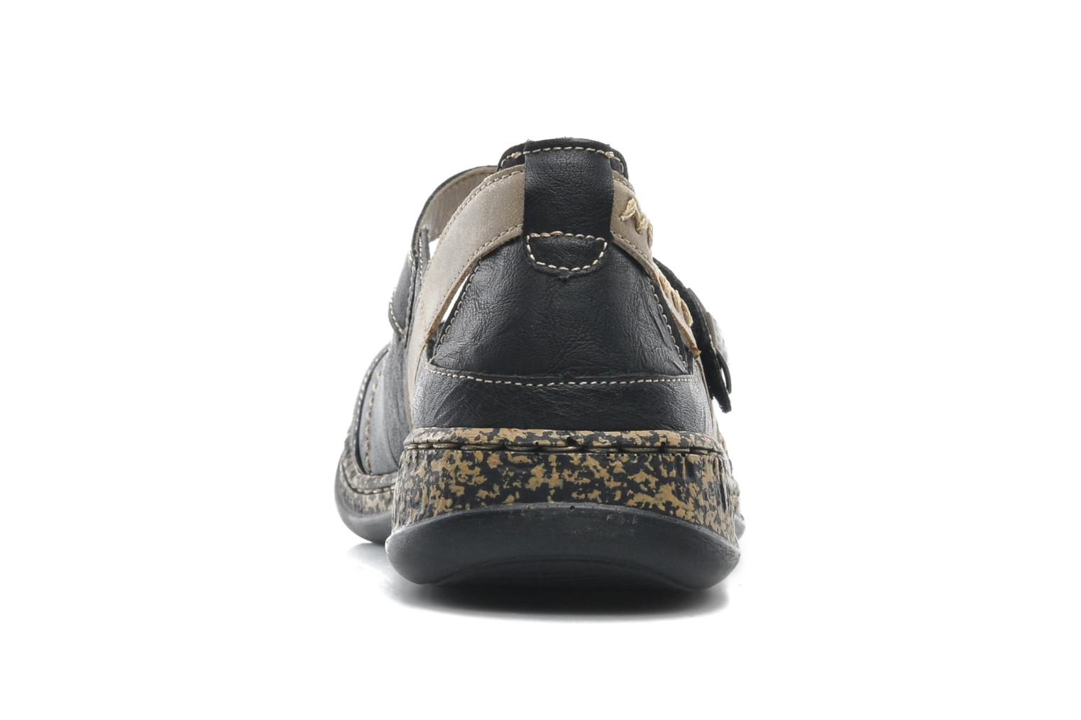 Ballet pumps Rieker Alia 46378 Black view from the right