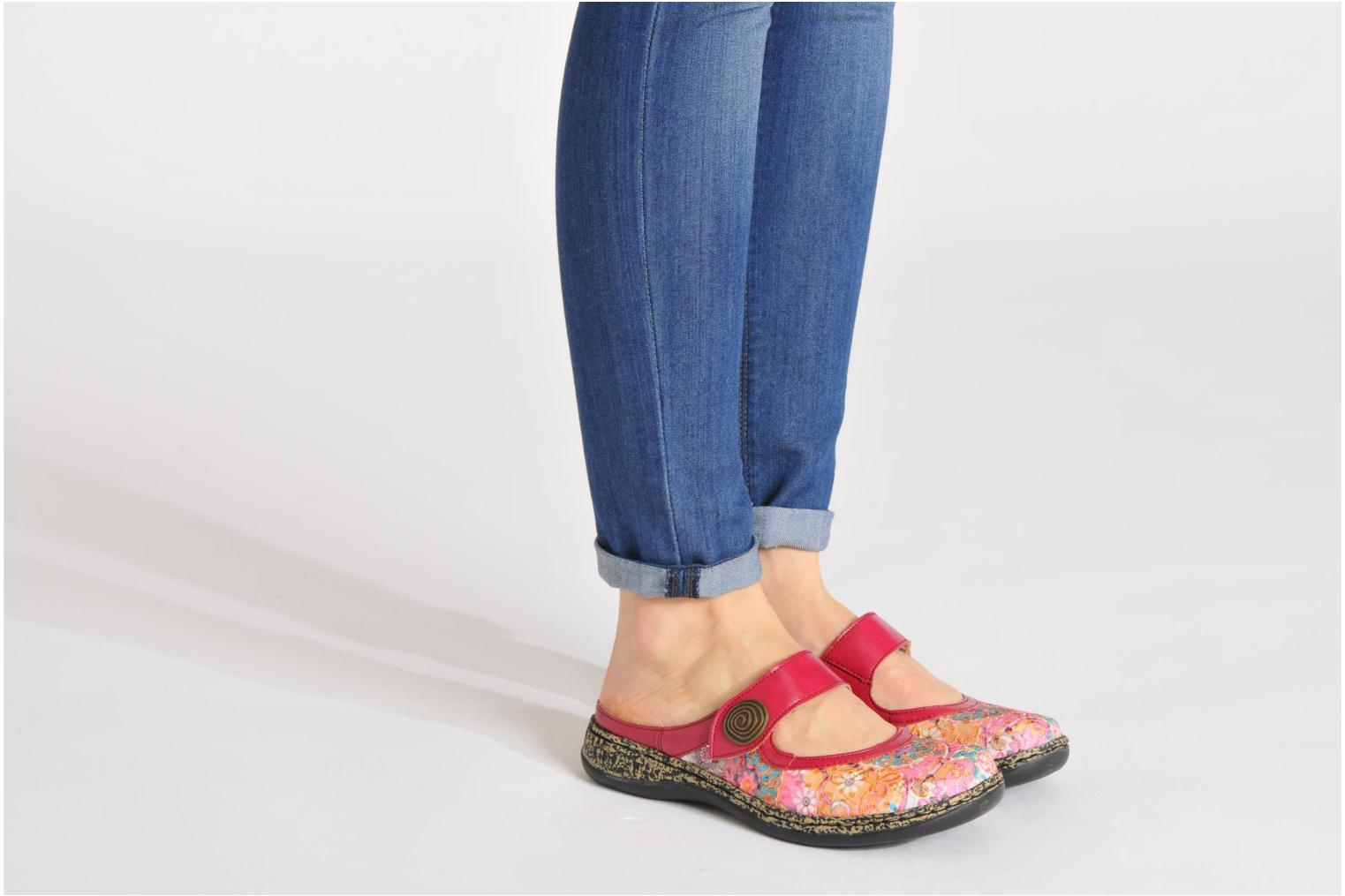Mules & clogs Rieker Bilia 46385 Pink view from underneath / model view