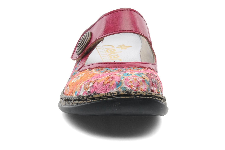 Mules & clogs Rieker Bilia 46385 Pink model view