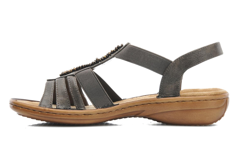Sandales et nu-pieds Rieker Barock 60841 Marron vue face