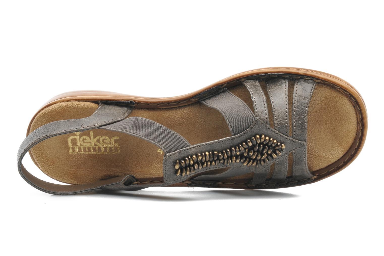 Sandales et nu-pieds Rieker Barock 60841 Marron vue gauche