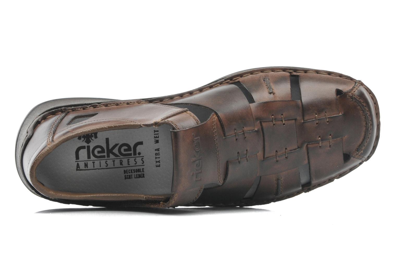 Sandales et nu-pieds Rieker Barry 05275 Marron vue gauche
