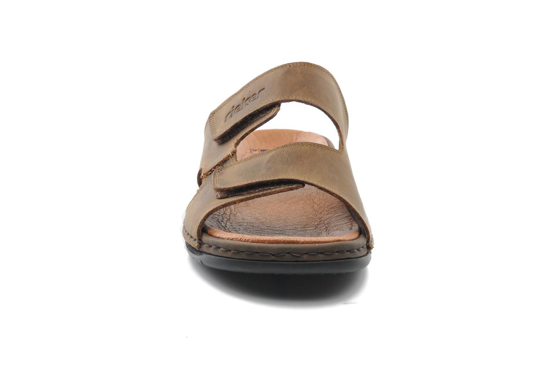Sandales et nu-pieds Rieker Ron 25592 Marron vue portées chaussures