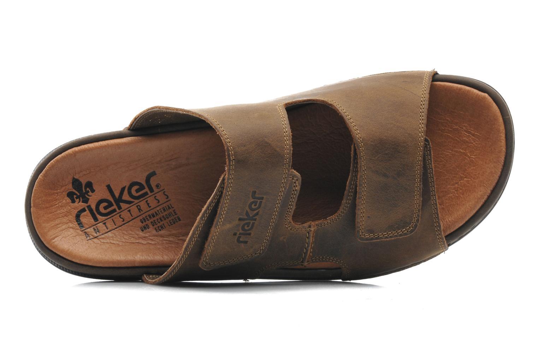 Sandales et nu-pieds Rieker Ron 25592 Marron vue gauche