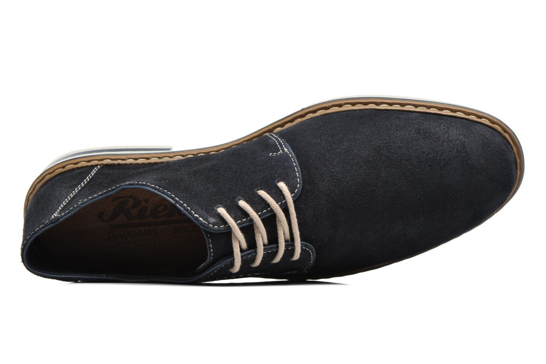 Chaussures à lacets Rieker Brutus 1422 Bleu vue gauche