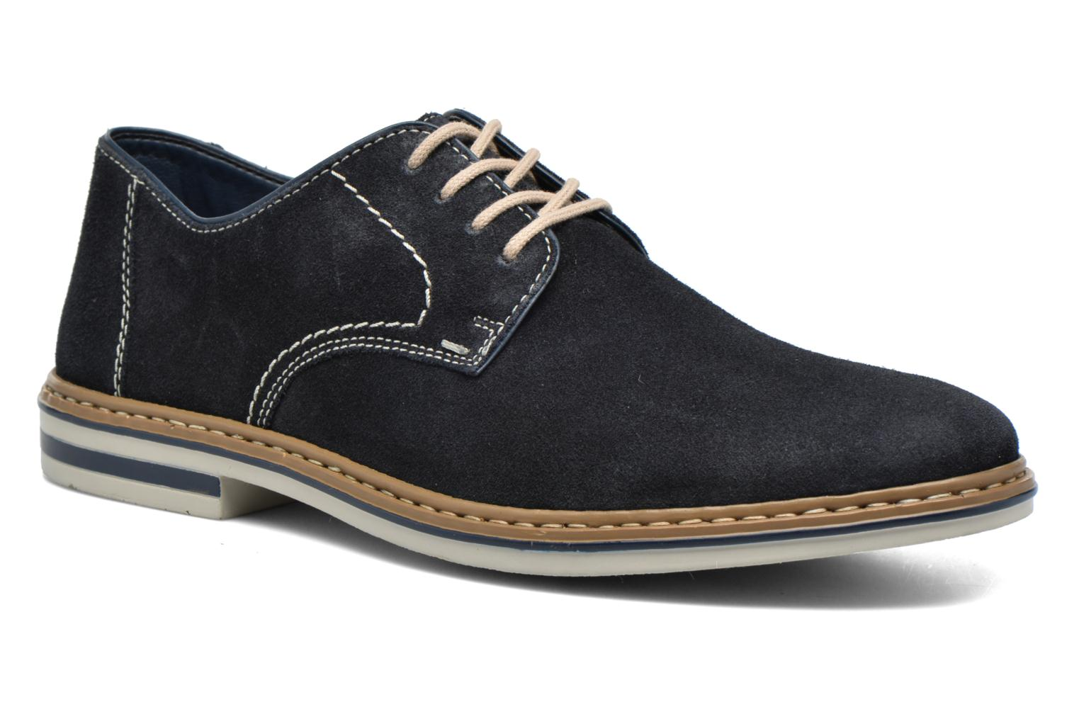 Lace-up shoes Rieker Brutus 1422 Blue detailed view/ Pair view