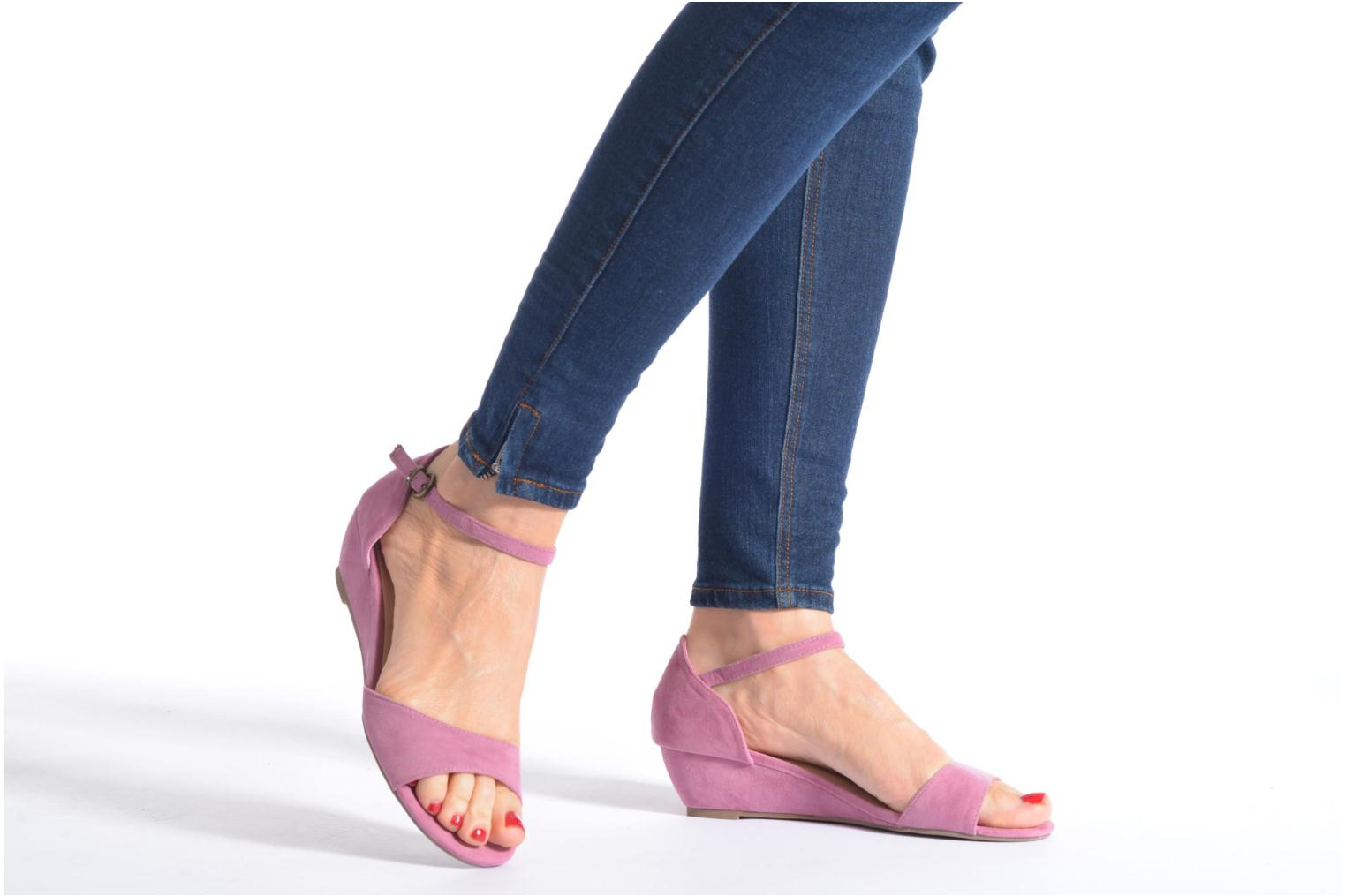 Sandals I Love Shoes Kivito Pink view from underneath / model view