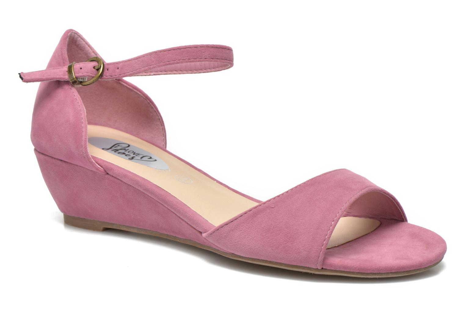 Sandals I Love Shoes Kivito Pink detailed view/ Pair view