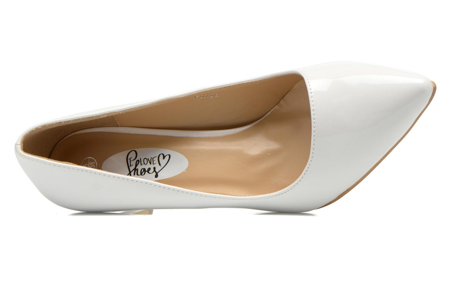 Escarpins I Love Shoes Kivari Blanc vue gauche