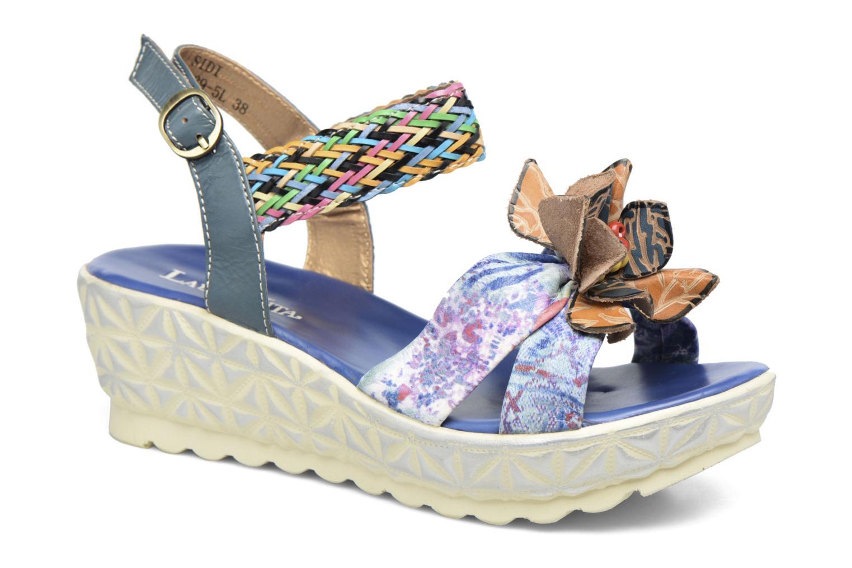 Sandals Laura Vita Sidi Blue detailed view/ Pair view