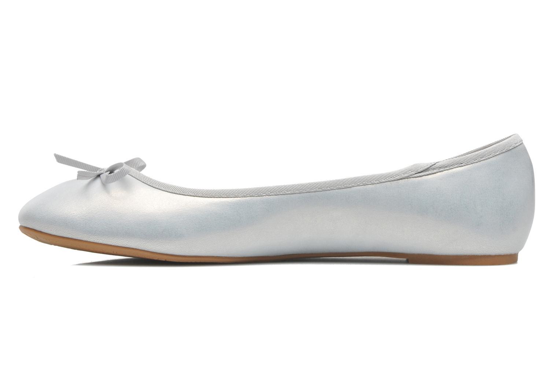 Ballerinas Elizabeth Stuart Castel 691 silber ansicht von vorne