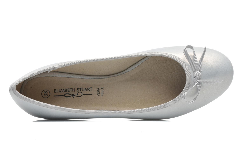 Ballet pumps Elizabeth Stuart Castel 691 Silver view from the left