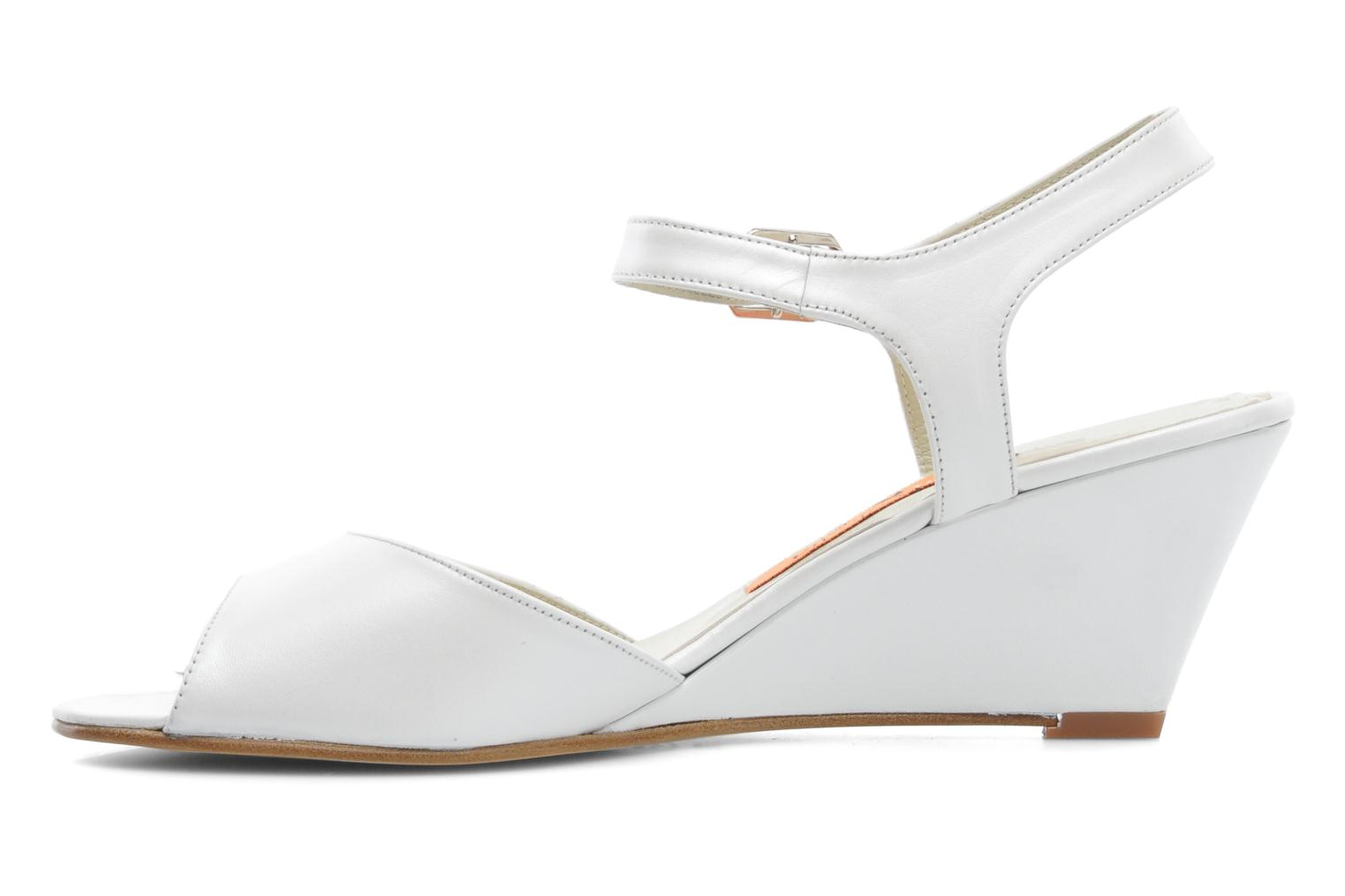 Sandals Anna Volodia Noemi White front view