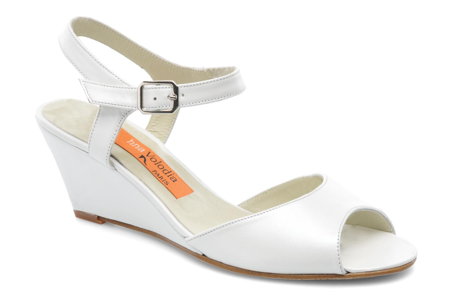 Sandals Anna Volodia Noemi White detailed view/ Pair view