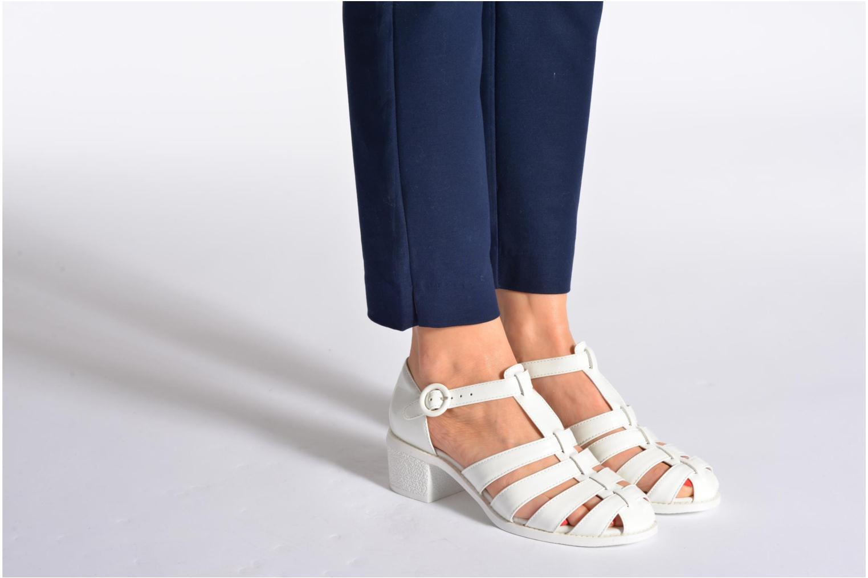 Sandales et nu-pieds Mellow Yellow Sadia Blanc vue bas / vue portée sac