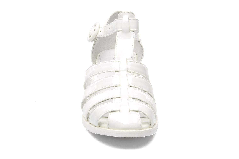 Sandales et nu-pieds Mellow Yellow Sadia Blanc vue portées chaussures