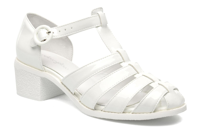 Sandales et nu-pieds Mellow Yellow Sadia Blanc vue détail/paire