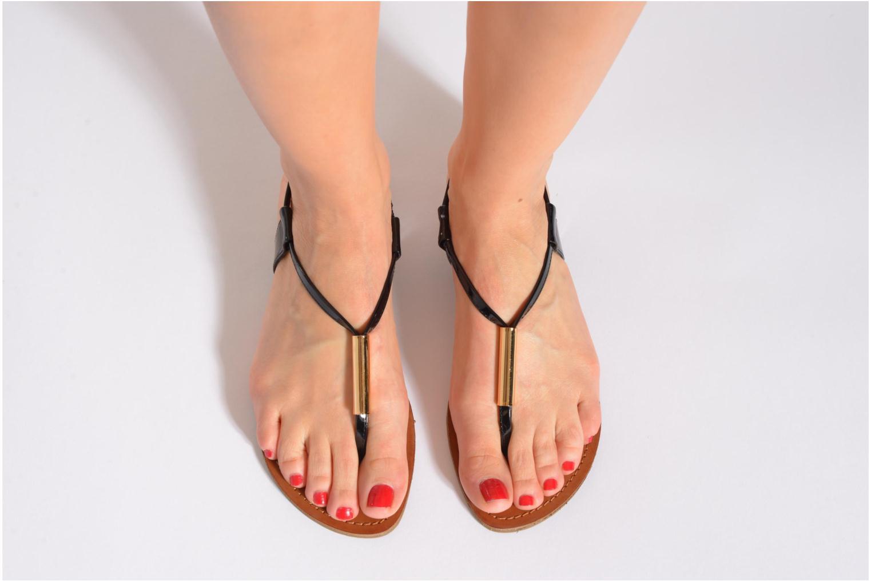Sandales et nu-pieds Steve Madden Hamil Noir vue bas / vue portée sac