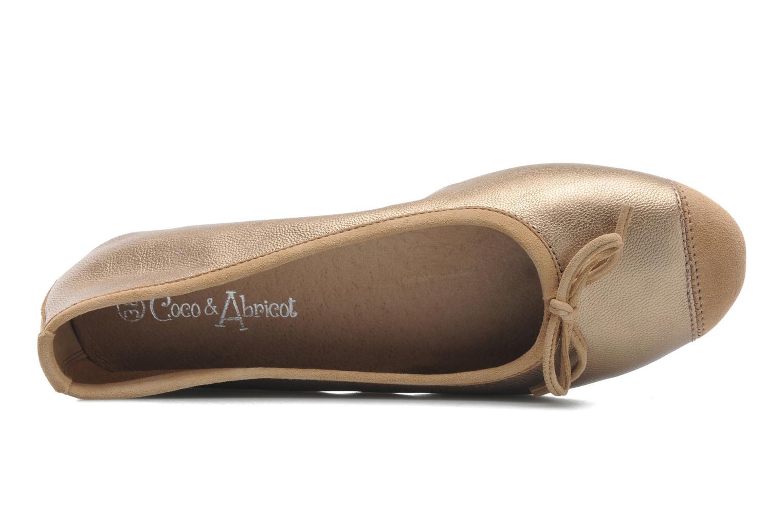 Bailarinas Coco et abricot Belline Oro y bronce vista lateral izquierda