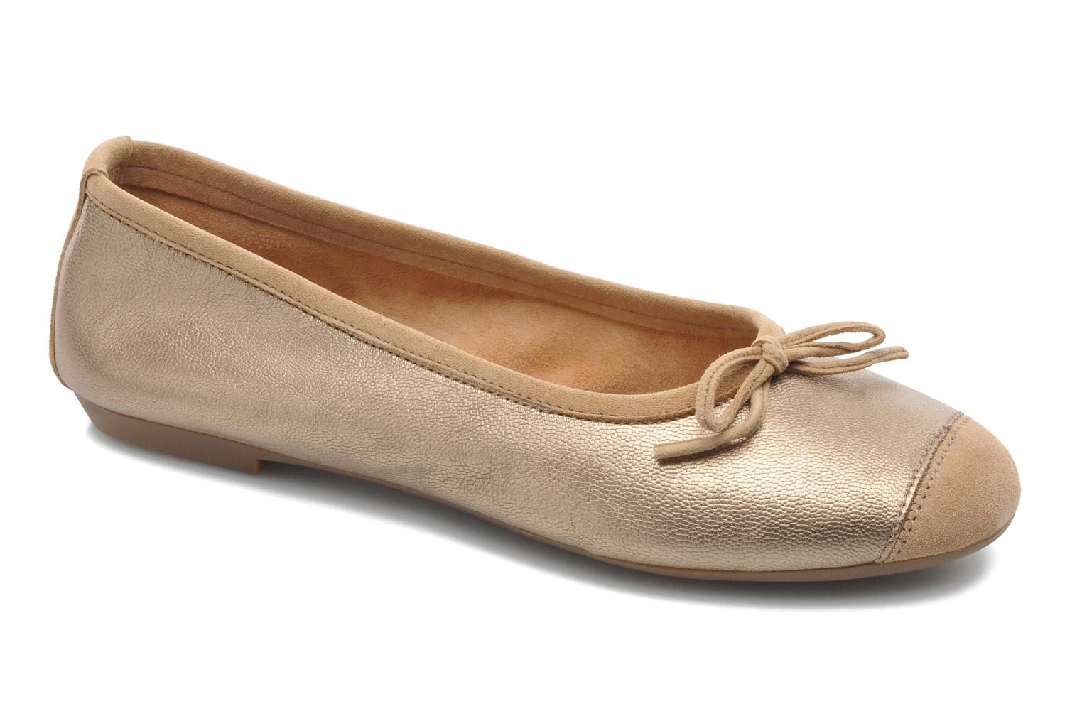 Ballet pumps Coco et abricot Belline Bronze and Gold detailed view/ Pair view