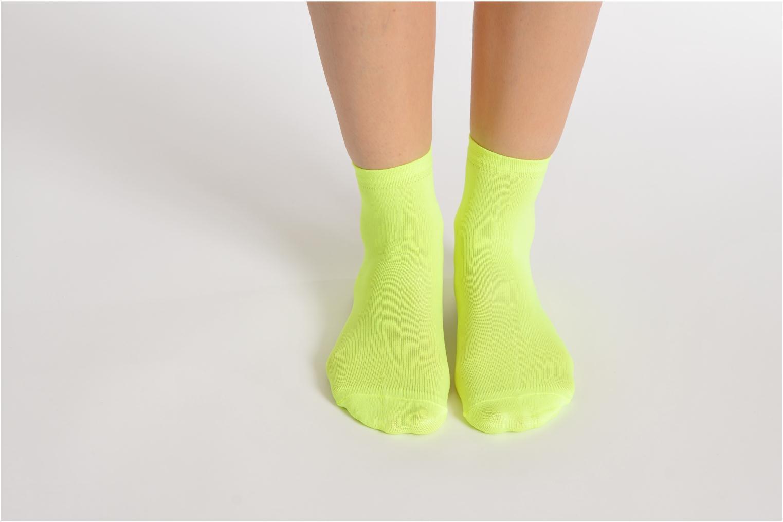 Chaussettes et collants My Lovely Socks Romane Fluo Jaune vue bas / vue portée sac