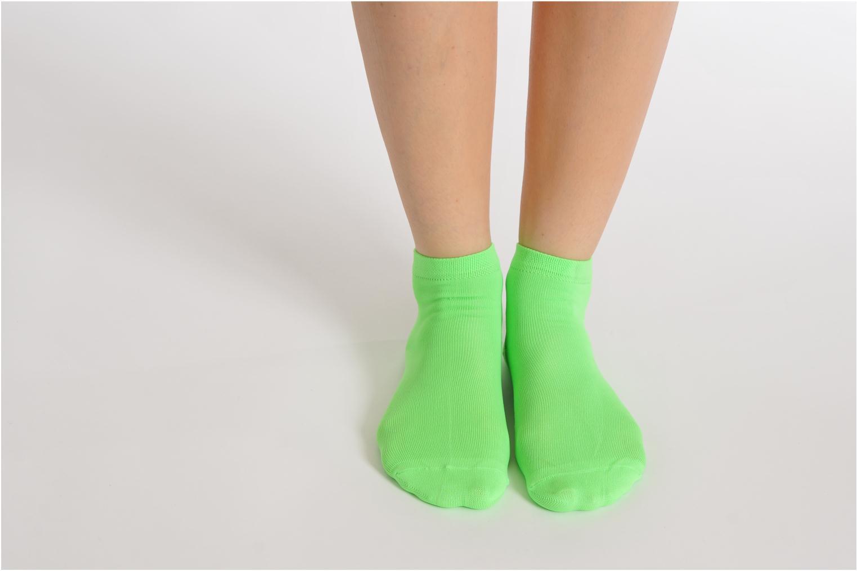 Chaussettes et collants My Lovely Socks Romane Fluo Vert vue bas / vue portée sac