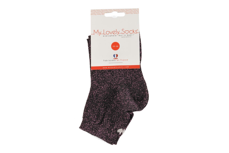 Strømper og tights My Lovely Socks Jo Pink se bagfra