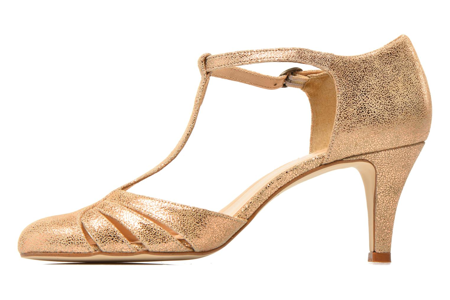 High heels Jonak 11316 Bronze and Gold front view