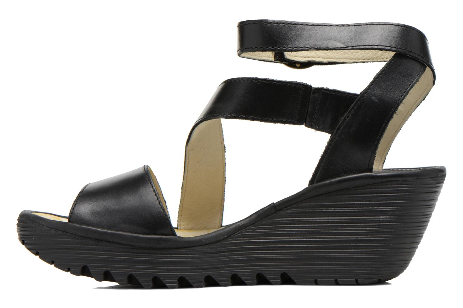 Sandals Fly London Yesk Black front view