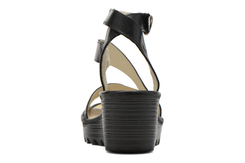 Sandales et nu-pieds Fly London Yesk Noir vue droite
