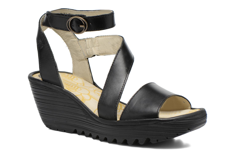 Sandales et nu-pieds Fly London Yesk Noir vue détail/paire