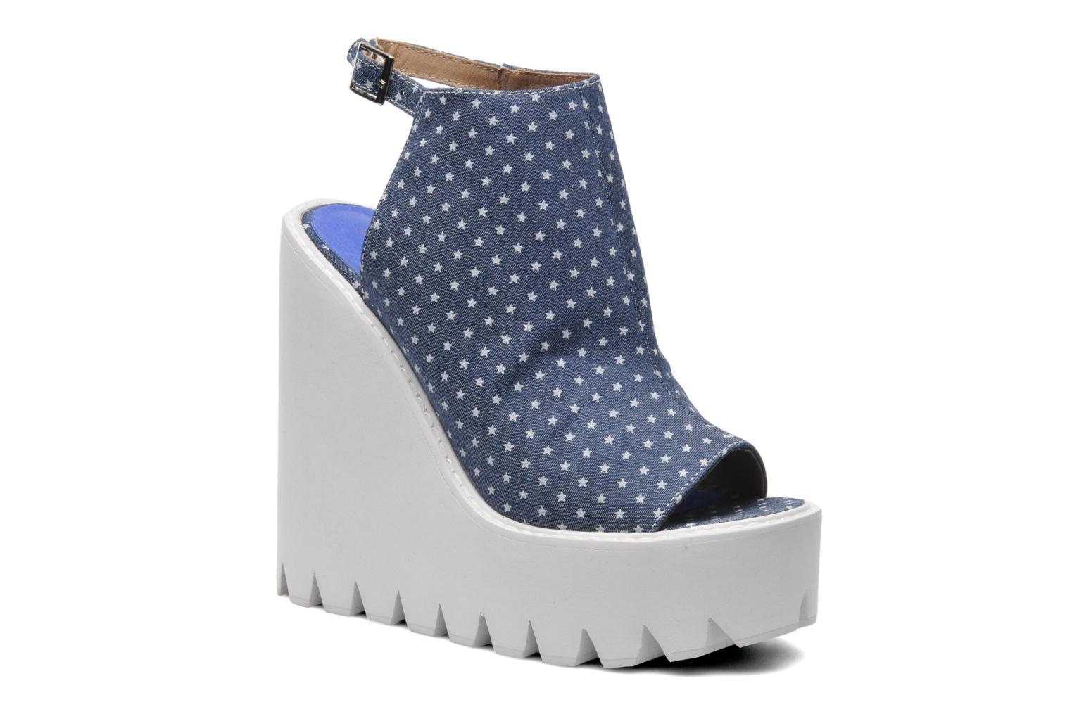 Sandals Jeffrey Campbell BARCLAY Blue detailed view/ Pair view