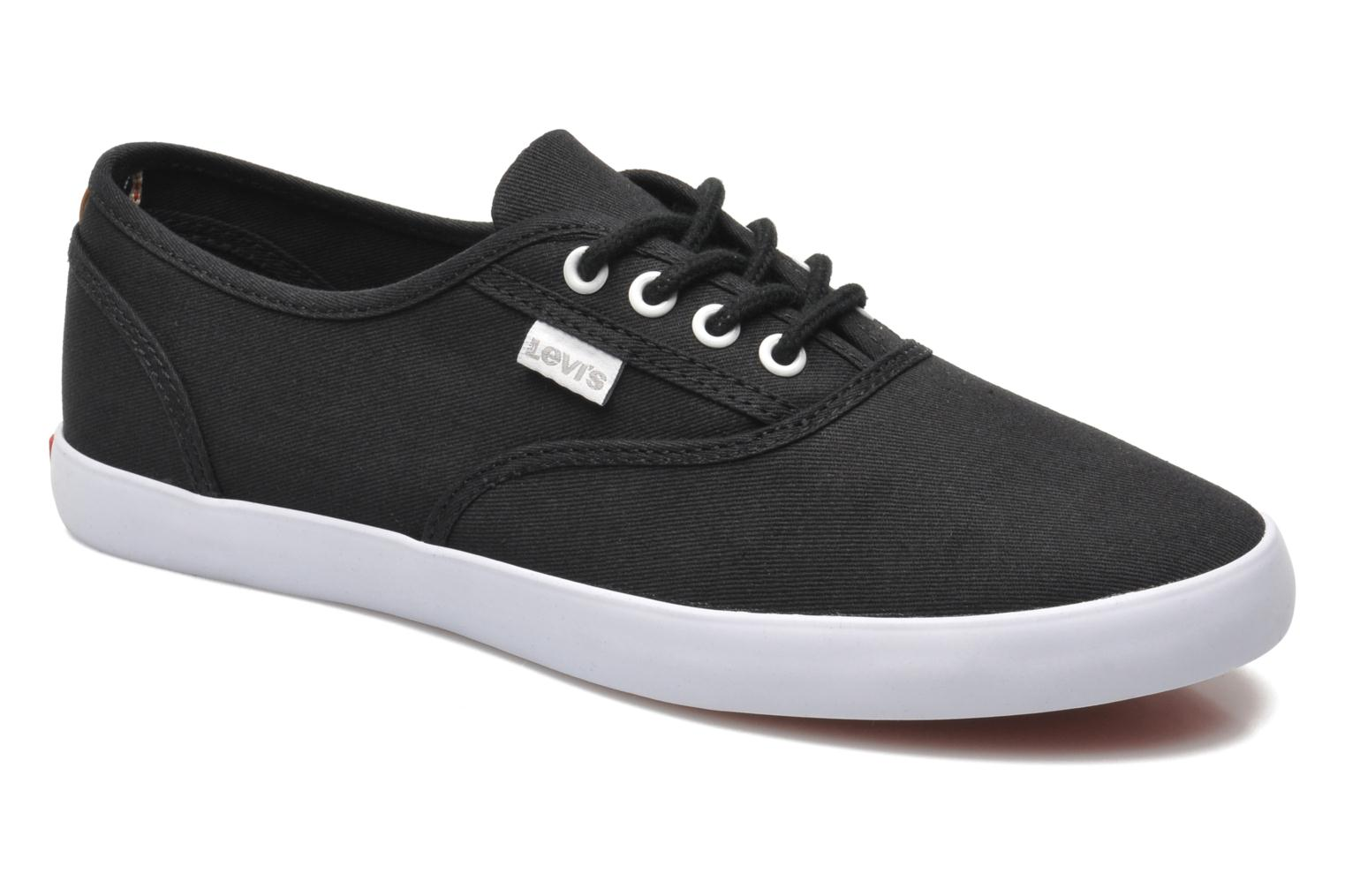 Trainers Levi's Palmdale Lace Up Black detailed view/ Pair view