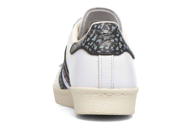 Sneakers Adidas Originals Superstar 80S W Wit rechts