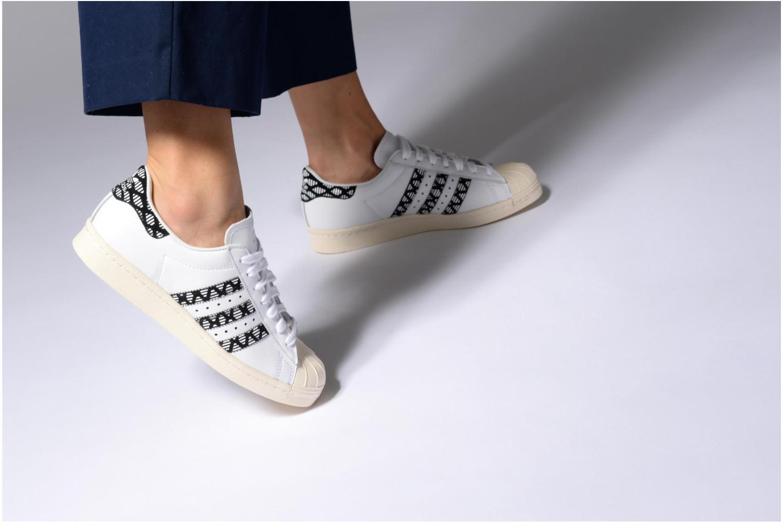 Deportivas Adidas Originals Superstar 80S W Negro vista de abajo