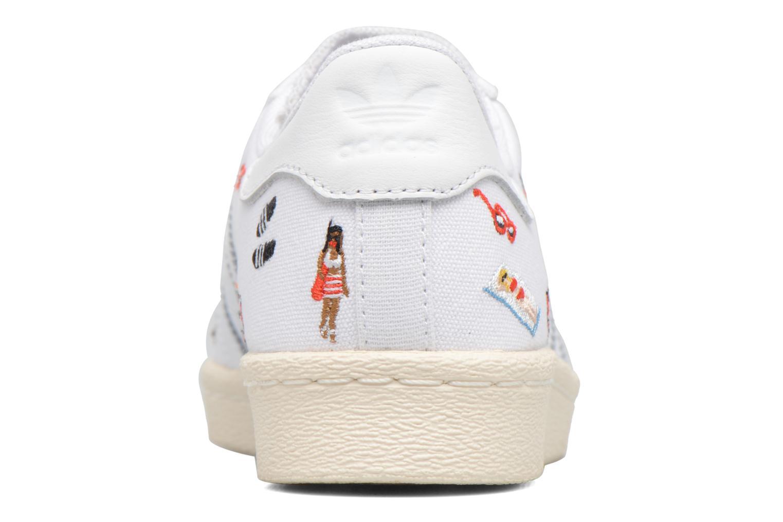 Sneaker Adidas Originals Superstar 80S W weiß ansicht von rechts