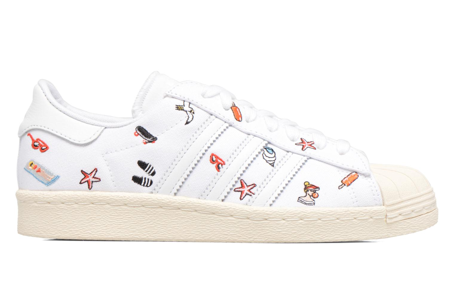 Baskets Adidas Originals Superstar 80S W Blanc vue derrière
