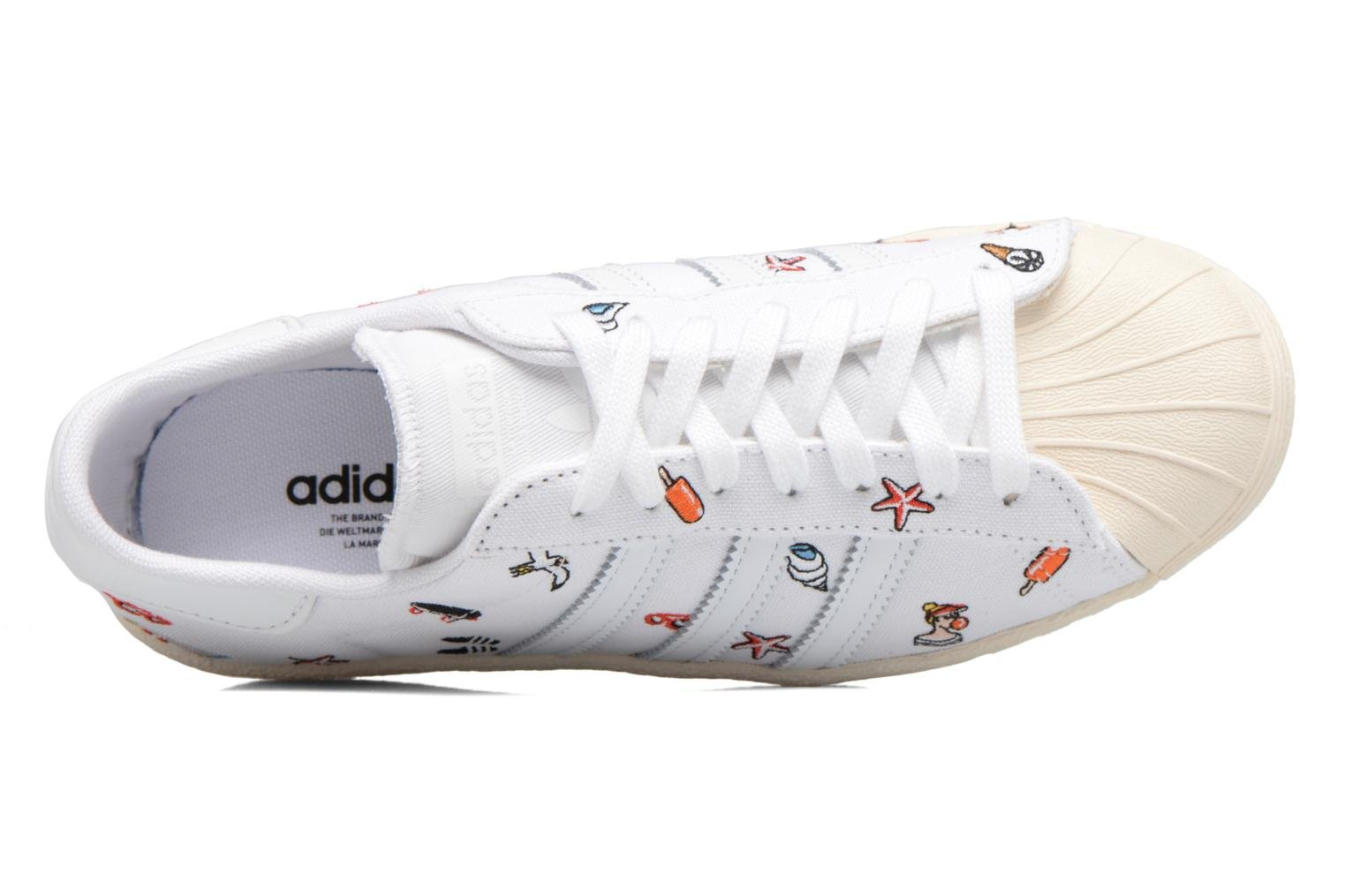 Sneakers Adidas Originals Superstar 80S W Bianco immagine sinistra