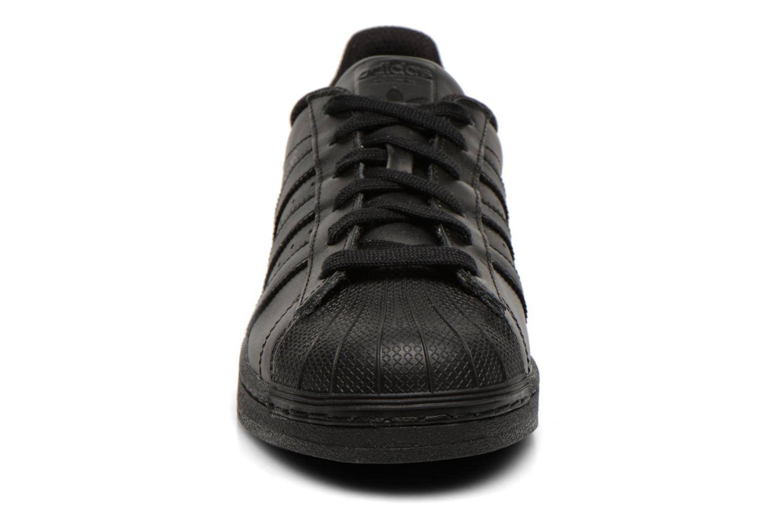 Sneaker Adidas Originals Superstar Foundation schwarz schuhe getragen