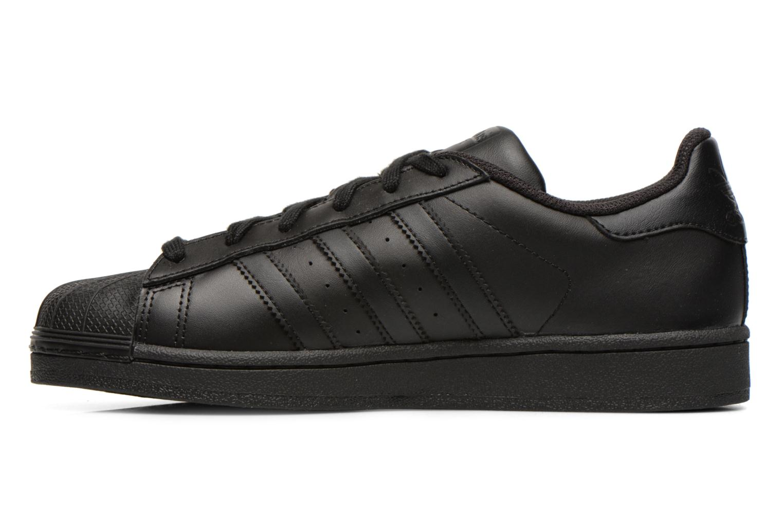Baskets Adidas Originals Superstar Foundation Noir vue face