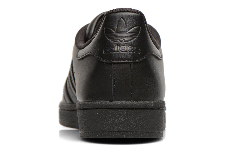 Sneaker Adidas Originals Superstar Foundation schwarz ansicht von rechts