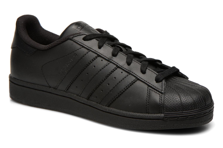 Deportivas Adidas Originals Superstar Foundation Negro vista de detalle / par