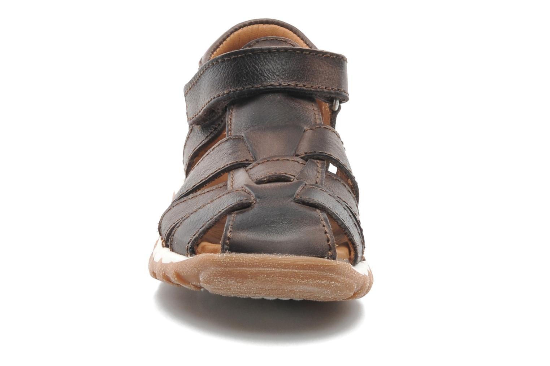 Sandales et nu-pieds Bisgaard Karen Marron vue portées chaussures