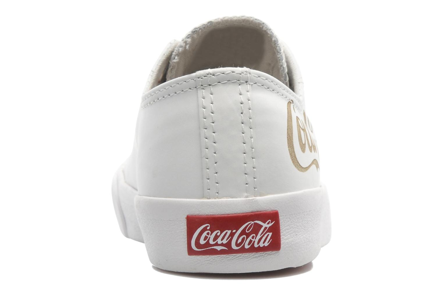 Trainers Coca-cola shoes Plain leather Low White view from the right