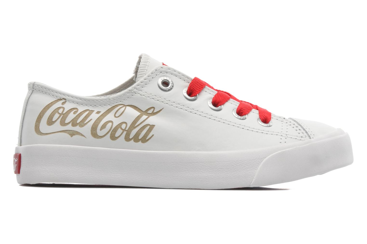 Trainers Coca-cola shoes Plain leather Low White back view