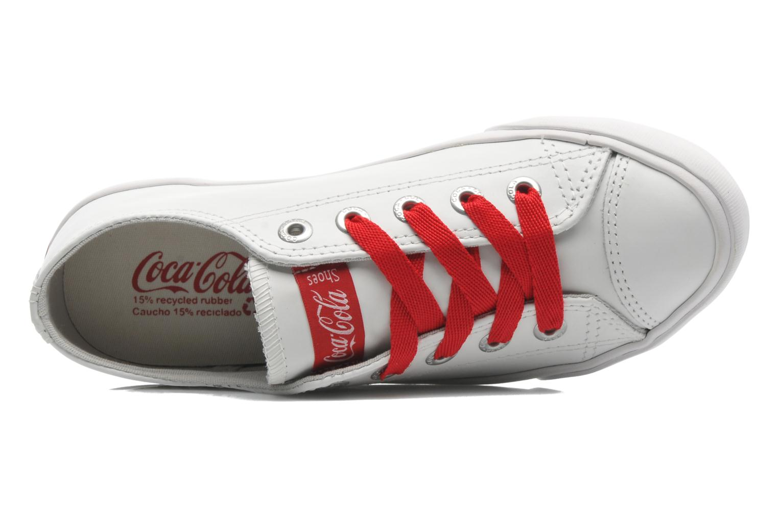 Sneakers Coca-cola shoes Plain leather Low Bianco immagine sinistra