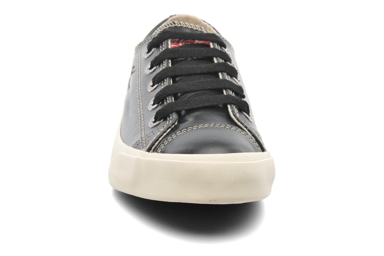 Sneakers Coca-cola shoes Plain leather Low Nero modello indossato