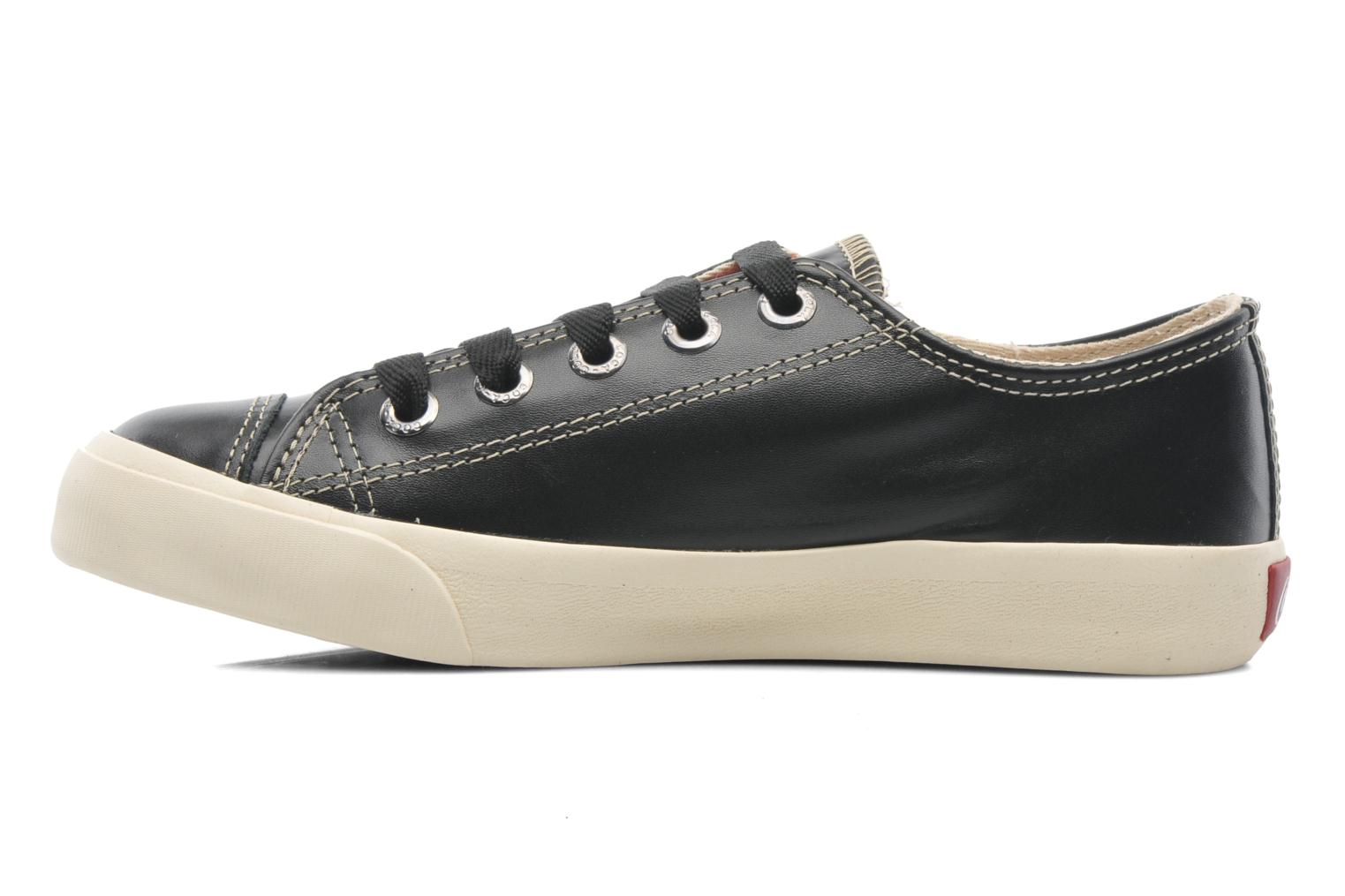 Sneakers Coca-cola shoes Plain leather Low Nero immagine frontale